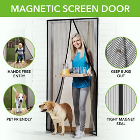 FLASH SALE - Magna Screen- The Instant Magnetic Screen Door! Enjoy the outdoors without the bugs getting in! Currently $20 at Walmart and Amazon! Order 3 or more for just $4.99 each - SHIPS FREE!