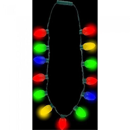 Retro LED Christmas Light Bulb Necklace