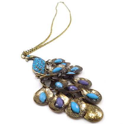 Peacock Pendant Necklace - SHIPS FREE!