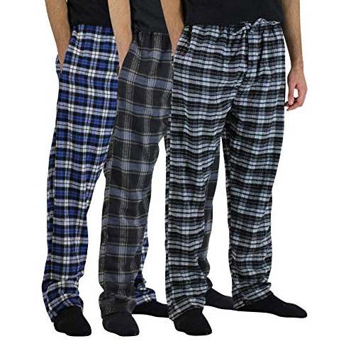 3-Set Northwest Blue Men's Soft Pajama Pants/Lounge Bottoms