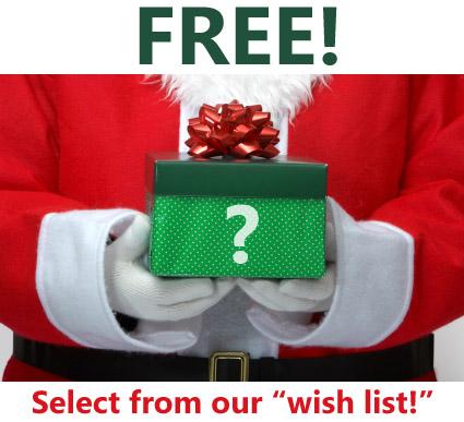 Random Gift with Christmas Wish List for Free
