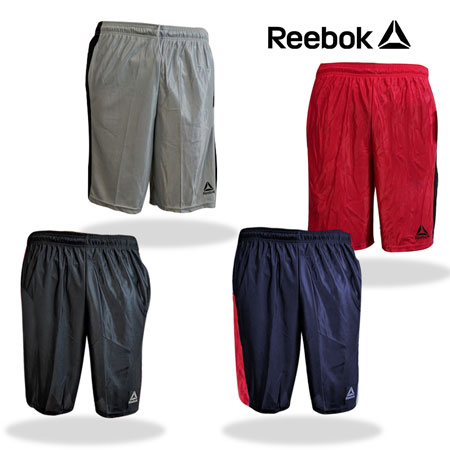 Reebok Men's Drawstring Performance Shorts with Pockets in Assorted Colors - You're getting a rockin' deal on these just because we send a random color. Don't worry, Reebok doesn't make any color that they don't think you will like - Limit 12 pair per customer - SHIPS FREE!