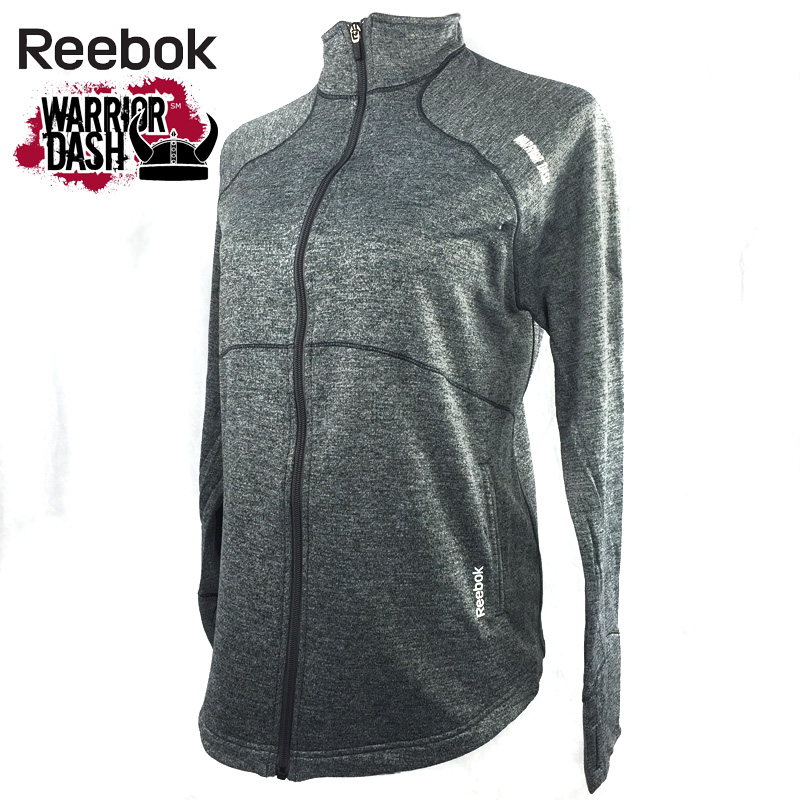Reebok Ladies PlayDry Moisture Wicking Athletic Jacket - Warrior Dash Edition - SHIPS FREE!