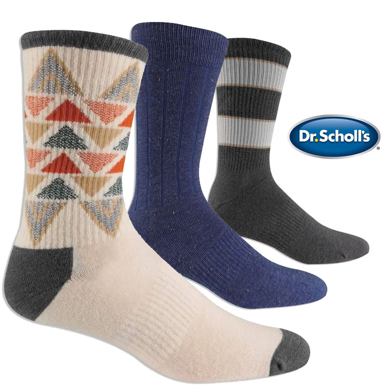 6 Pairs of Dr. Scholl's Elevated Comfort Knit Dress Socks