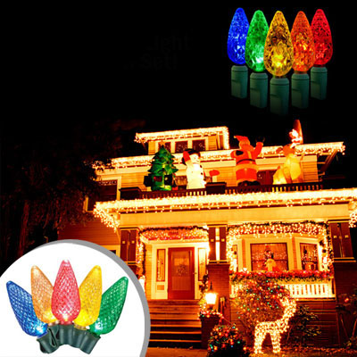 set of 10 multi function led christmas light set with select a color technology remote control that daily deal