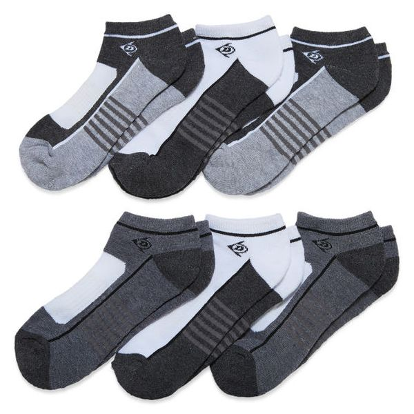 12-Pack Dunlop Men's No-Show Socks