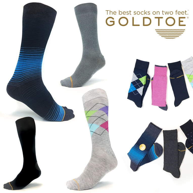 5 Pairs of Gold Toe Men's Assorted Collections Dress Socks - Argyles, Stripes, Solids, Patterns - Order 3 or more for just $9.99, only $2 a pair! - That is CHEAP for Gold Toe! SHIPS FREE!