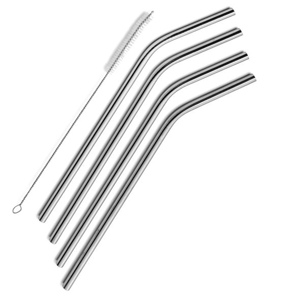 Set of 4 Stainless Steel Drinking Straws - Bonus Cleaning Brush Included! These are long enough for the big drinks and Yeti tumblers too! - Order 2 or more for just $4.99 each! Yes, you get a cleaning brush with each set you order! SHIPS FREE!