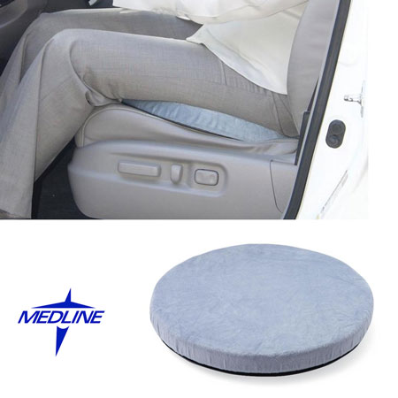 360-Degree-Rotation Swivel Seat by Medline - Allows Easy Turning While Seated! Kind of like a Lazy Susan for your bottom :) Also makes getting in and out of chairs car seats etc easier! Currently $18.95 at Walmart! - Grab a couple for anyone you think would benefit from this! SHIPS FREE!