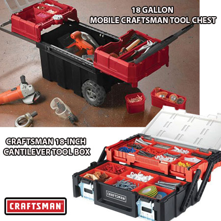 Rare Craftsman Deal! - Craftsman Tool Chests - Two models To Choose From starting at $14.99 - 18