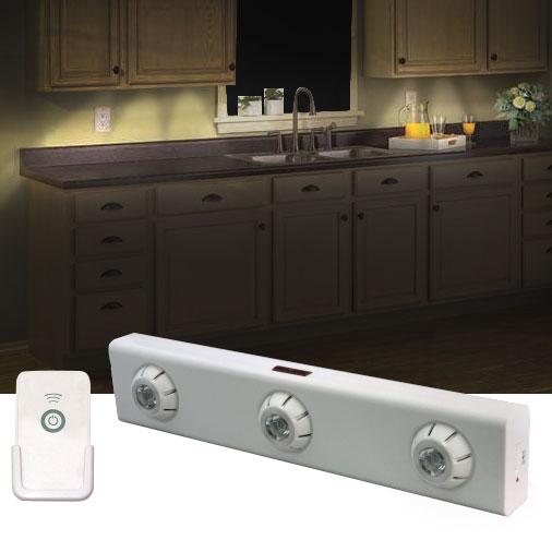 wireless rite lite under cabinet lighting with remote 65 off fs. Black Bedroom Furniture Sets. Home Design Ideas
