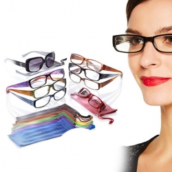 Joy Mangano 7-Piece Super Chic Reading Glasses Set in Ombre + Free Joy Mangano Bifocal Sunglasses