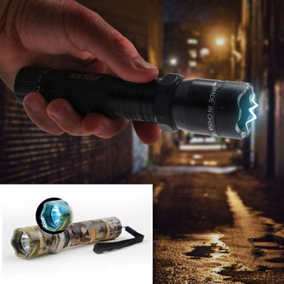 Tactical Aluminum Rechargeable Stun Gun LED Flashlight - SHIPS FREE!